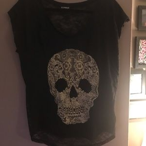 Lace skull tee from express